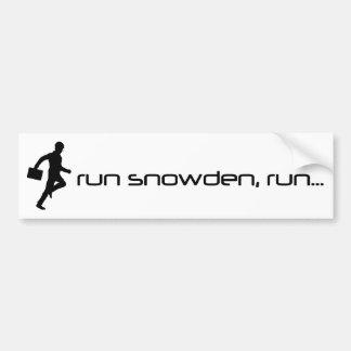 Lassen Sie Snowden laufen, lassen Sie Autoaufkleber