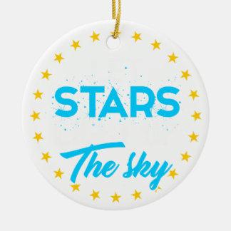 Lassen Sie Sterne dem Himmel leuchten Keramik Ornament