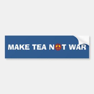 Lassen Sie Tee nicht kämpfen kein Autoaufkleber