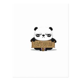 """""""Lassen Sie uns es tun!"""" Panda Postkarte"""