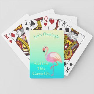 Lassen Sie uns Flamingle und erhalten Sie diesem Spielkarten