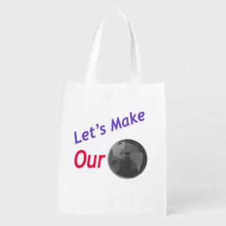 Lassen Sie unsere Erde grünen! Wiederverwendbare Einkaufstasche