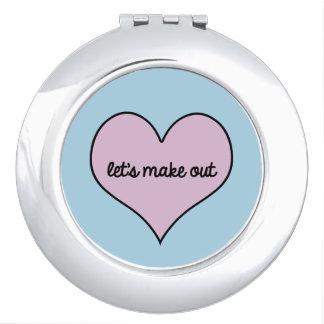 LASSEN Sie US kompakten Spiegel AUSMACHEN Schminkspiegel