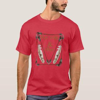 Lassen Sie wilden und freien grafischen Pfeil-T - T-Shirt