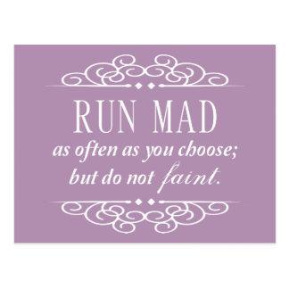 Lassen Sie wütende Zitat-Postkarte Janes Austen Postkarte
