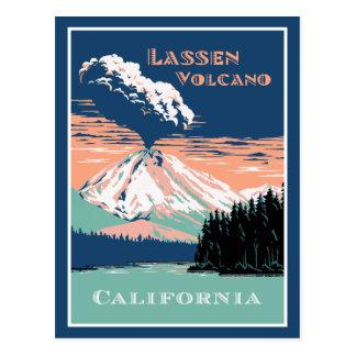 Lassen-Vulkan Kalifornien Postkarte