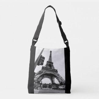 Lässige Ansicht von Eiffel-Turm - einfach und Tragetaschen Mit Langen Trägern