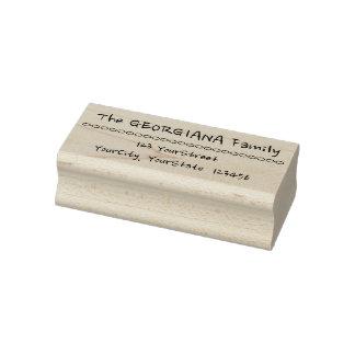 Lässige Familienname-und Adressen-Gummi-Briefmarke Gummistempel