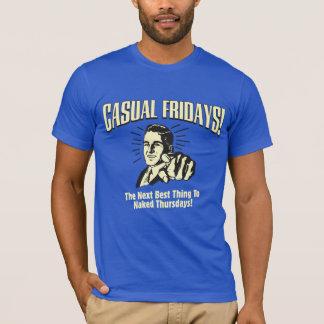 Lässige Freitag: Nackte Donnerstage T-Shirt