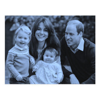 Lässige Royals Kate William Familie 2015 Postkarte