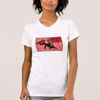 "Lässiger die Schaufel-T - Shirt Mel ""NINJA CAT-"""