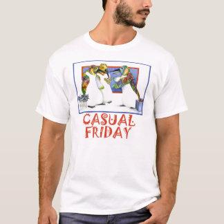 Lässiger Freitag - weißes Shirt