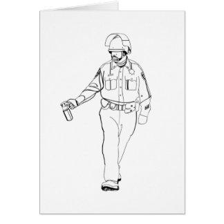 Lässiger Pfeffer-Spray-Polizist Grußkarte
