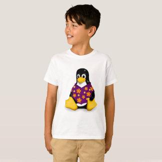 Lässiger Tux-lila Kinder Tagless Jersey T-Shirt