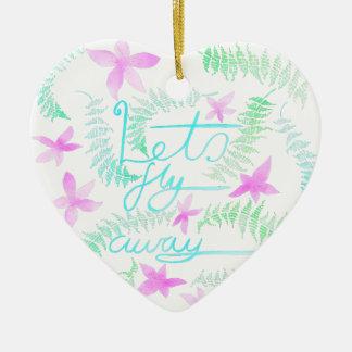 Lässt die wegfliege keramik Herz-Ornament