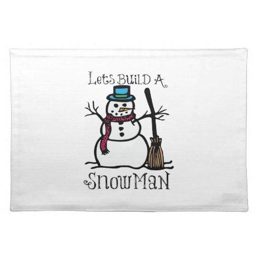 Lässt Gestalt ein Schnee-Mann Tisch Set