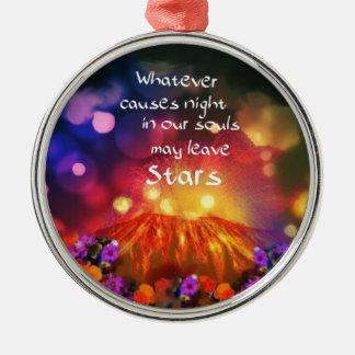 Lässt heraus das Beste in Ihnen Rundes Silberfarbenes Ornament