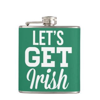 Lässt irische Flaschen St. Patricks erhalten Tages Flachmann