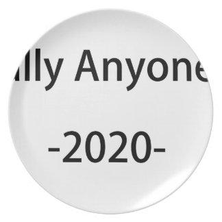 Lässt jemand anderes im Jahre 2020 wählen Melaminteller