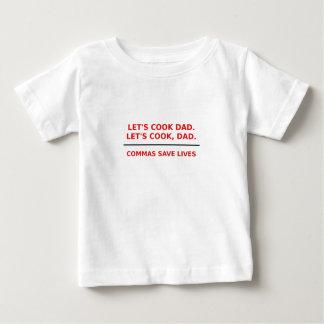 Lässt Koch-Vati-Kommas die Leben retten Baby T-shirt