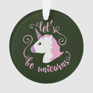 Lässt Unicorns Emoji sein Ornament
