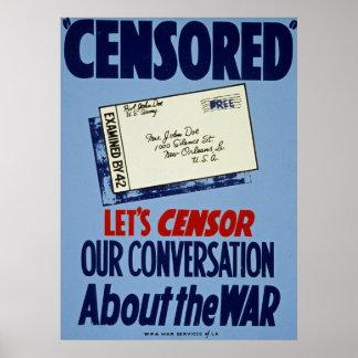 Lässt Zensor unser Gespräch über den Vintagen Poster