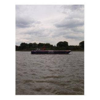 Lastkahn auf der Themse Postkarte