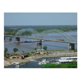 Lastkahn auf Fluss Mississipipostkarte Postkarte