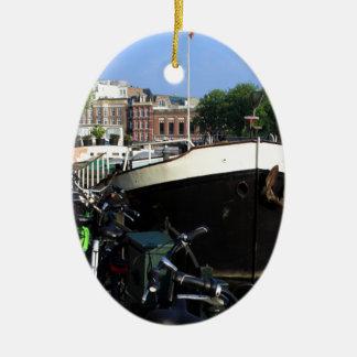 Lastkahn und Fahrräder, Amsterdam Keramik Ornament