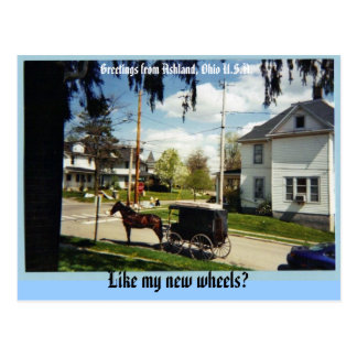 Lastwagen, Grüße von Ashland, Ohio USA, Lik… Postkarte
