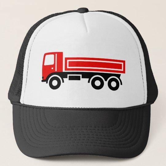 Lastwagen mit Kipper Truckerkappe