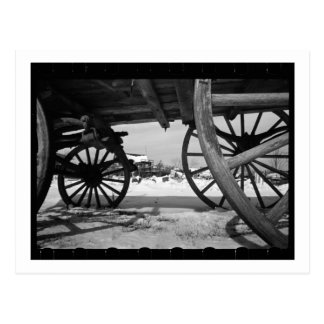 Lastwagen-Räder Postkarte