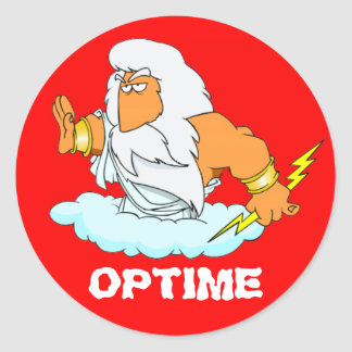 Latein: Optime! Runder Sticker