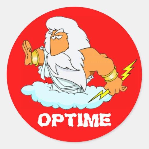 Latein: Optime! Runder Sticker