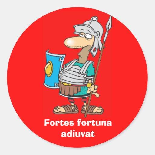 Latein: Stärkenfortuna adiuvat Runde Sticker