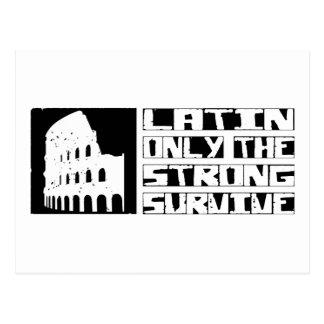 Latein überleben postkarte