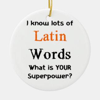 lateinische Wörter Rundes Keramik Ornament