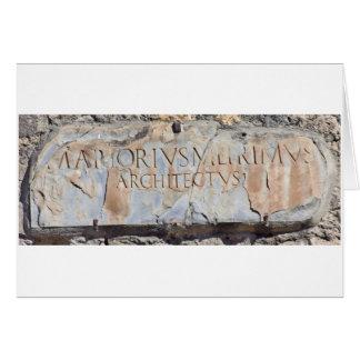 Lateinischer Architekt Grußkarte