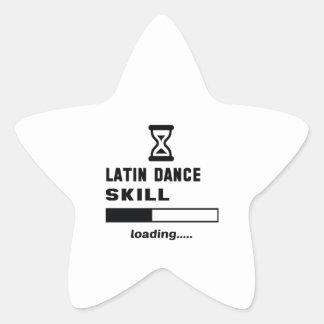 Lateinisches Tanzfähigkeit Laden ...... Stern Aufkleber