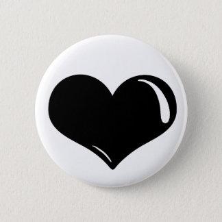 Latex-Herz Runder Button 5,7 Cm