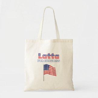 Latta für Kongress-patriotische amerikanische Flag Budget Stoffbeutel
