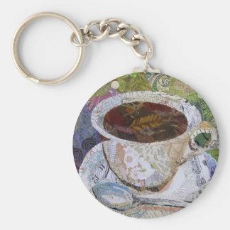 Latte - Collagen-Café-Kunst Schlüsselanhänger