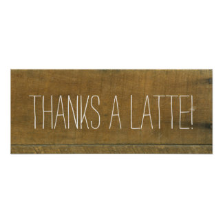 Latte, Vintages inspiriertes altes hölzernes Poster