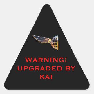 LATTICH-Warnschild Dreiecks-Aufkleber