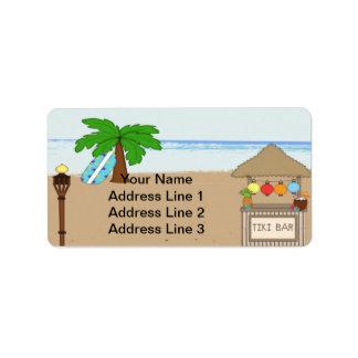 Laua/Tiki Party Einladungs-Adressen-Etiketten Adress Aufkleber