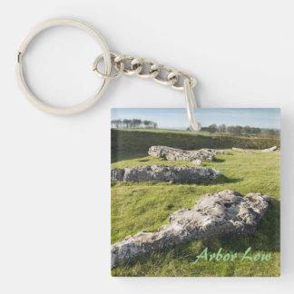 Lauben-niedriger Steinkreis in Derbyshire-Foto Schlüsselanhänger