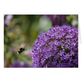 Lauch und Biene Karte