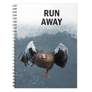 Lauf weg notizblock
