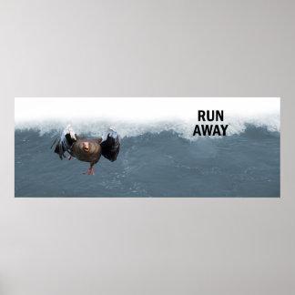 Lauf weg poster