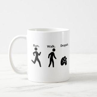 Lauf. Weg. Verzweiflung. Marathon Kaffeetasse